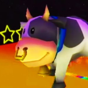 RACING AS A GIANT COW in Mario Kart Wii